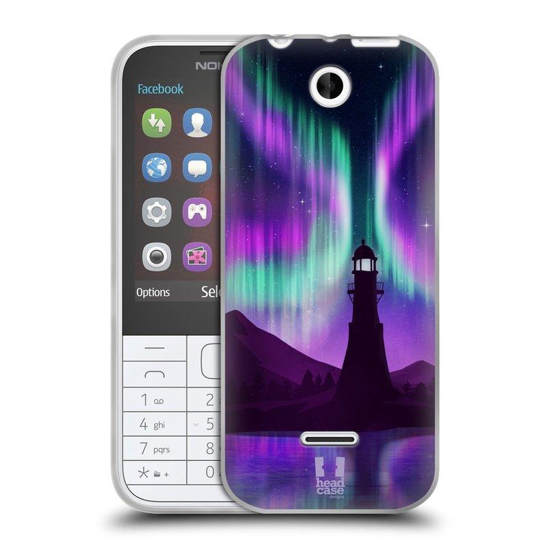 Silikonové pouzdro na mobil Nokia 225 HEAD CASE Polární Záře Maják (Silikonový kryt či obal na mobilní telefon Nokia 225)