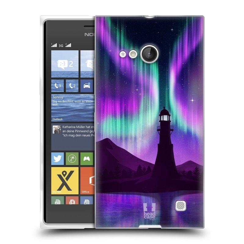 Silikonové pouzdro na mobil Nokia Lumia 730 Dual SIM HEAD CASE Polární Záře Maják (Silikonový kryt či obal na mobilní telefon Nokia Lumia 730 Dual SIM)
