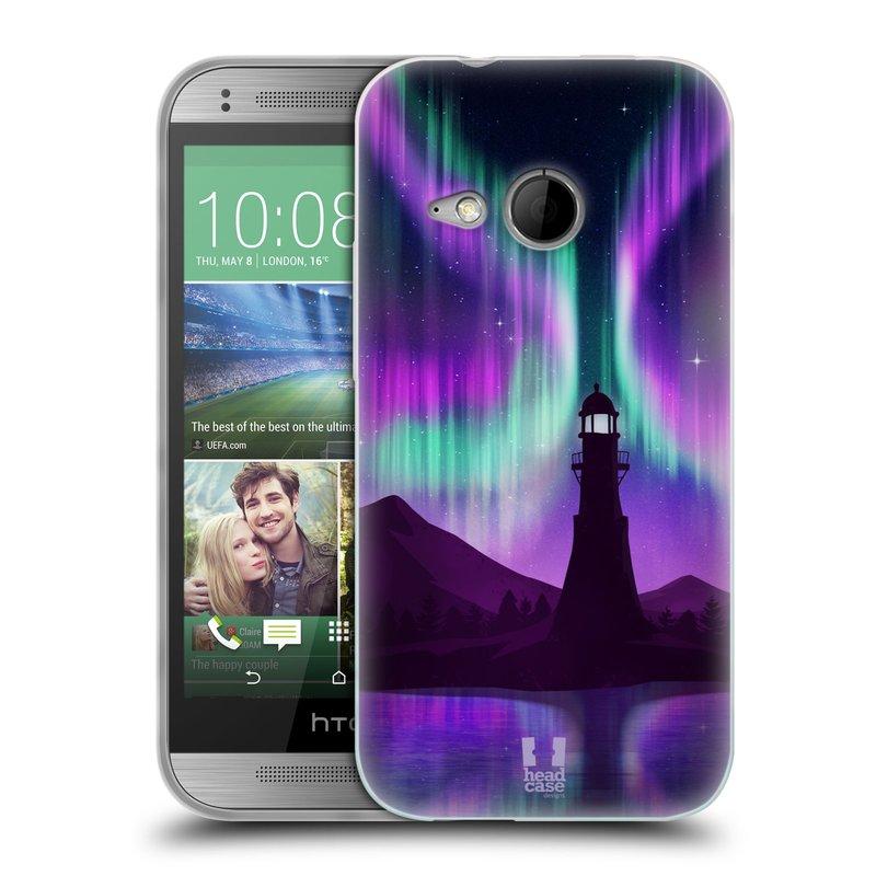 Silikonové pouzdro na mobil HTC ONE Mini 2 HEAD CASE Polární Záře Maják (Silikonový kryt či obal na mobilní telefon HTC ONE Mini 2)
