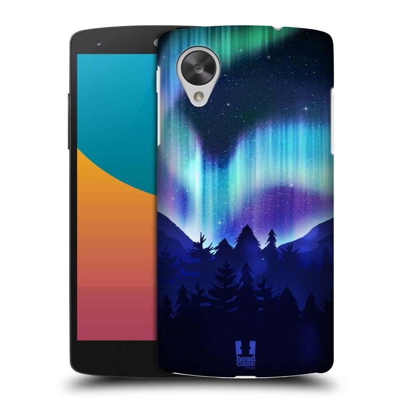 Plastové pouzdro na mobil LG Nexus 5 HEAD CASE Polární Záře Borovice (Kryt či obal na mobilní telefon LG Google Nexus 5 D821)