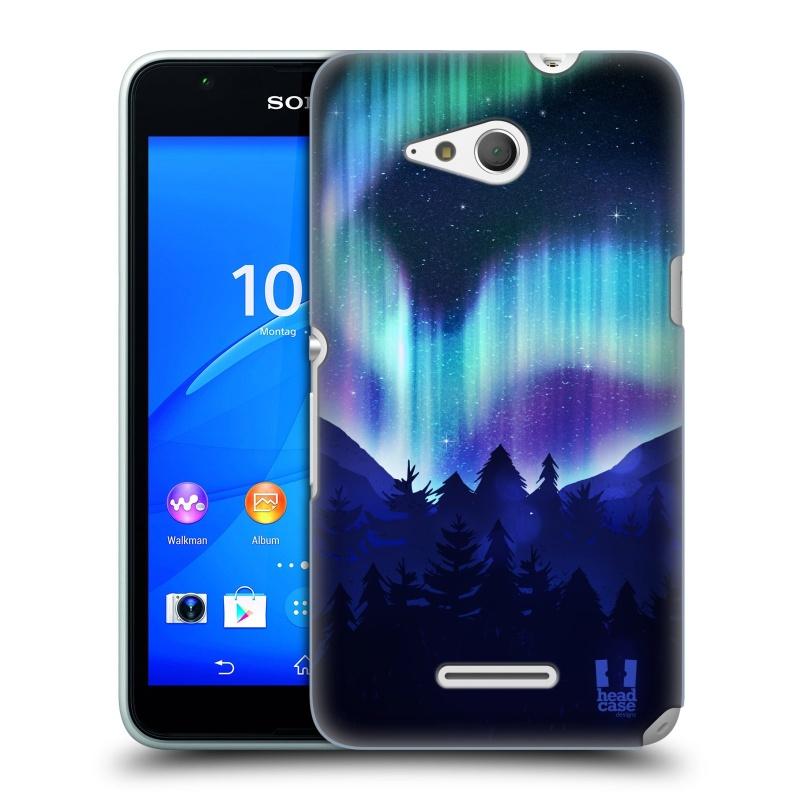 Plastové pouzdro na mobil Sony Xperia E4g E2003 HEAD CASE Polární Záře Borovice (Kryt či obal na mobilní telefon Sony Xperia E4g a E4g Dual SIM)
