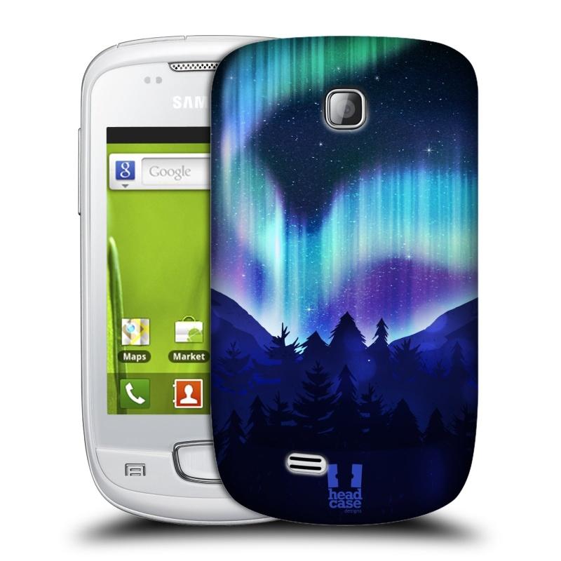 Plastové pouzdro na mobil Samsung Galaxy Mini HEAD CASE Polární Záře Borovice (Kryt či obal na mobilní telefon Samsung Galaxy Mini GT-S5570 / GT-S5570i)