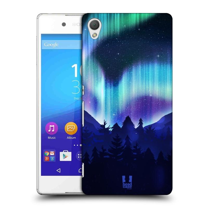 Plastové pouzdro na mobil Sony Xperia Z3+ (Plus) HEAD CASE Polární Záře Borovice (Kryt či obal na mobilní telefon Sony Xperia Z3+ a Sony Xperia Z4 )