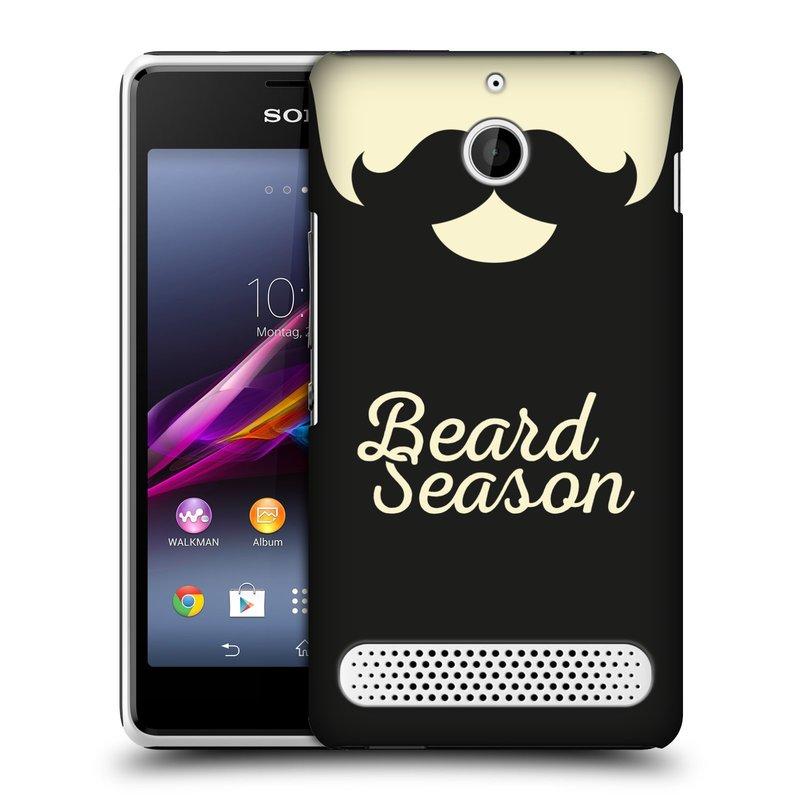 Plastové pouzdro na mobil Sony Xperia E1 D2005 HEAD CASE KNÍR BEARD SEASON (Plastový kryt či obal na mobilní telefon Sony Xperia E1 a E1 Dual)