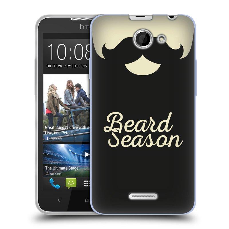 Silikonové pouzdro na mobil HTC Desire 516 HEAD CASE KNÍR BEARD SEASON (Silikonový kryt či obal na mobilní telefon HTC Desire 516 Dual SIM)