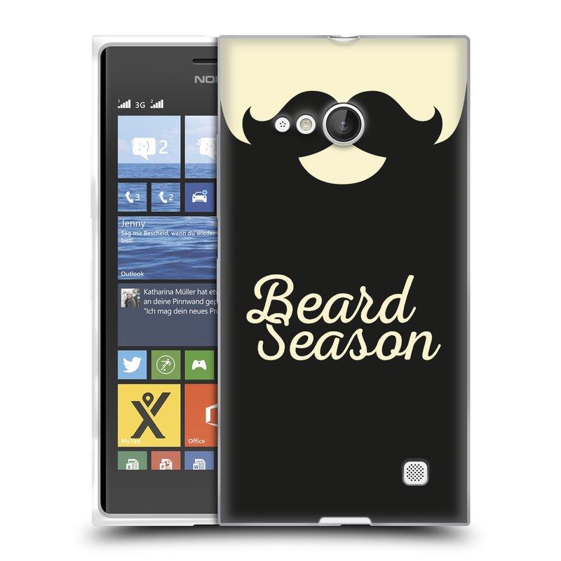 Silikonové pouzdro na mobil Nokia Lumia 730 Dual SIM HEAD CASE KNÍR BEARD SEASON (Silikonový kryt či obal na mobilní telefon Nokia Lumia 730 Dual SIM)
