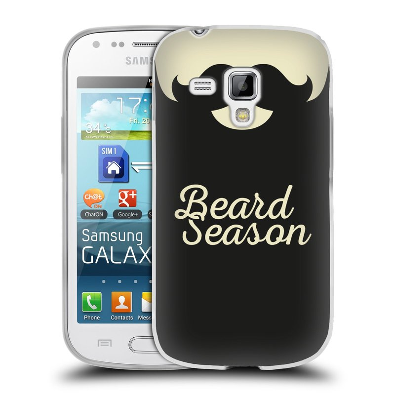 Silikonové pouzdro na mobil Samsung Galaxy S Duos HEAD CASE KNÍR BEARD SEASON (Silikonový kryt či obal na mobilní telefon Samsung Galaxy S Duos GT-S7562)