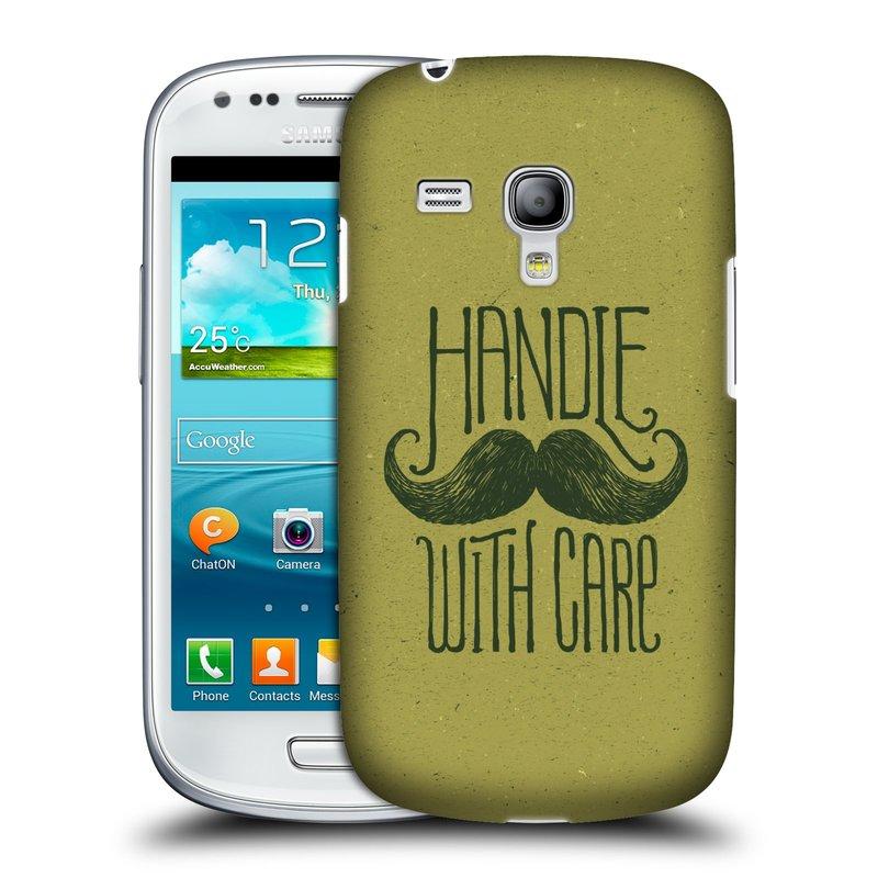 Silikonové pouzdro na mobil Samsung Galaxy S III Mini VE HEAD CASE KNÍR HANDLE WITH CARE (Plastový kryt či obal na mobilní telefon Samsung Galaxy S3 Mini VE GT-i8200)