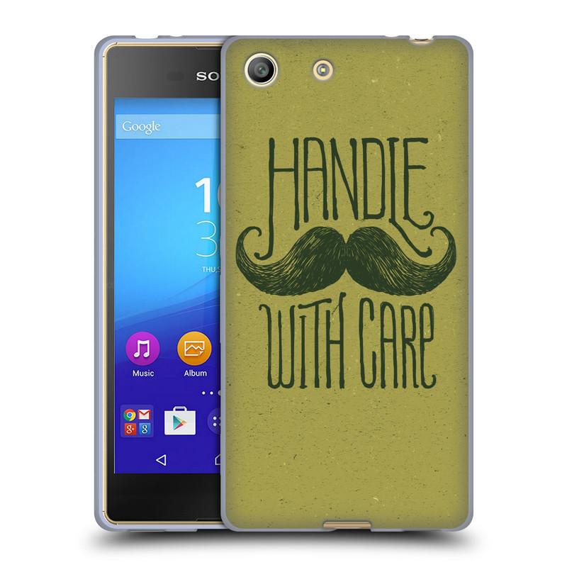 Silikonové pouzdro na mobil Sony Xperia M5 HEAD CASE KNÍR HANDLE WITH CARE (Silikonový kryt či obal na mobilní telefon Sony Xperia M5 Dual SIM / Aqua)