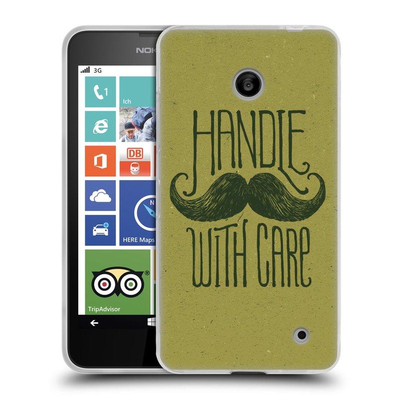 Silikonové pouzdro na mobil Nokia Lumia 635 HEAD CASE KNÍR HANDLE WITH CARE (Silikonový kryt či obal na mobilní telefon Nokia Lumia 635 Dual SIM)