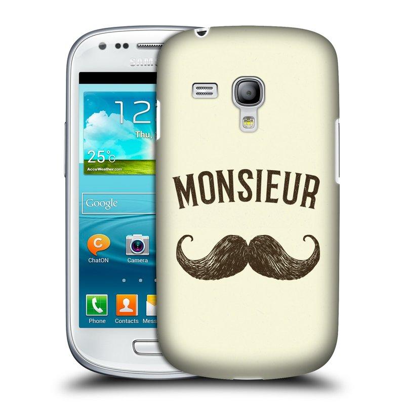 Silikonové pouzdro na mobil Samsung Galaxy S III Mini VE HEAD CASE KNÍR MONSIEUR (Plastový kryt či obal na mobilní telefon Samsung Galaxy S3 Mini VE GT-i8200)