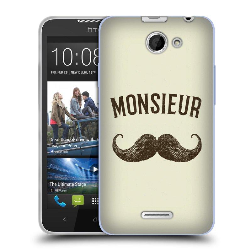 Silikonové pouzdro na mobil HTC Desire 516 HEAD CASE KNÍR MONSIEUR (Silikonový kryt či obal na mobilní telefon HTC Desire 516 Dual SIM)