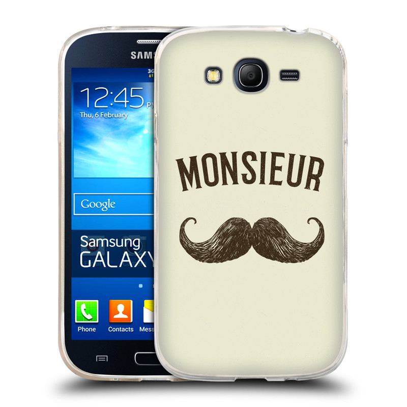 Silikonové pouzdro na mobil Samsung Galaxy Grand Neo HEAD CASE KNÍR MONSIEUR (Silikonový kryt či obal na mobilní telefon Samsung Galaxy Grand Neo GT-I9060)