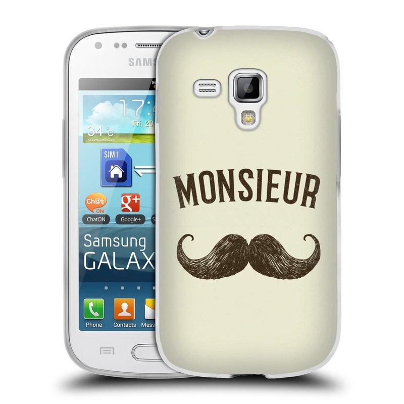Silikonové pouzdro na mobil Samsung Galaxy S Duos HEAD CASE KNÍR MONSIEUR (Silikonový kryt či obal na mobilní telefon Samsung Galaxy S Duos GT-S7562)