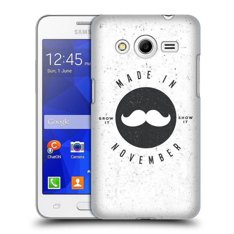 Plastové pouzdro na mobil Samsung Galaxy Core 2 HEAD CASE KNÍR MADE IN NOVEMBER (Plastový kryt či obal na mobilní telefon Samsung Galaxy Core 2 SM-G355H)