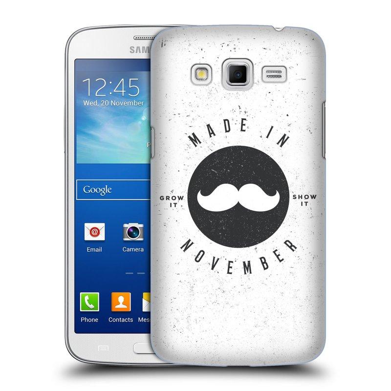 Plastové pouzdro na mobil Samsung Galaxy Grand 2 HEAD CASE KNÍR MADE IN NOVEMBER (Plastový kryt či obal na mobilní telefon Samsung Galaxy Grand 2 LTE SM-G7105F a Samsung Galaxy Grand 2 Duos SM-G7102F)