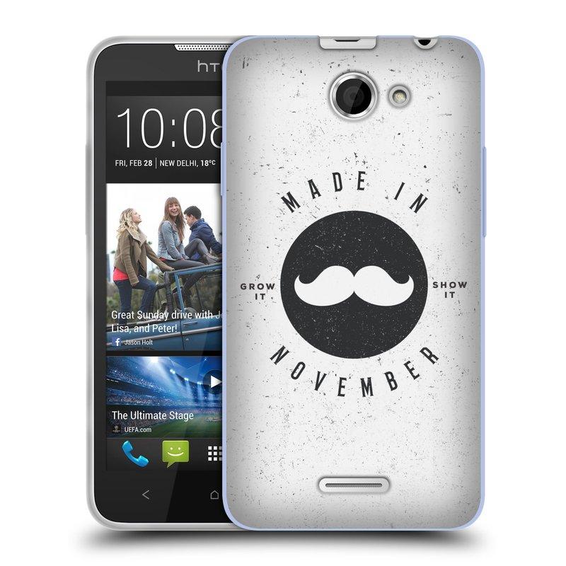Silikonové pouzdro na mobil HTC Desire 516 HEAD CASE KNÍR MADE IN NOVEMBER (Silikonový kryt či obal na mobilní telefon HTC Desire 516 Dual SIM)