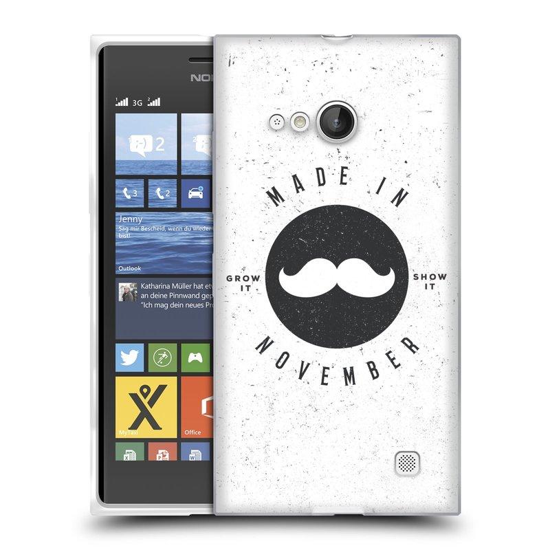 Silikonové pouzdro na mobil Nokia Lumia 730 Dual SIM HEAD CASE KNÍR MADE IN NOVEMBER (Silikonový kryt či obal na mobilní telefon Nokia Lumia 730 Dual SIM)