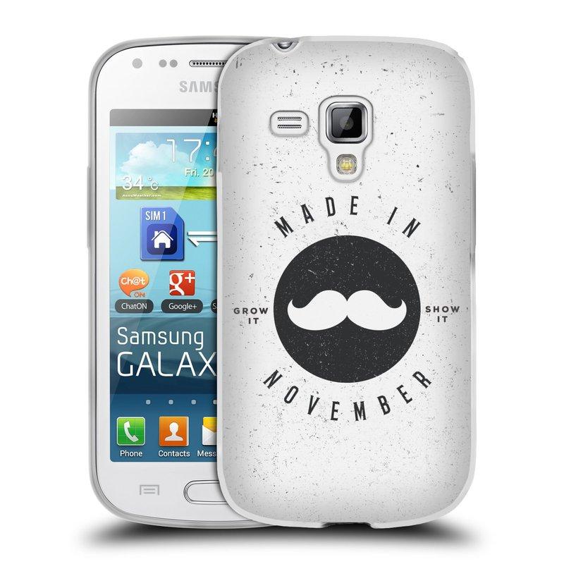 Silikonové pouzdro na mobil Samsung Galaxy S Duos HEAD CASE KNÍR MADE IN NOVEMBER (Silikonový kryt či obal na mobilní telefon Samsung Galaxy S Duos GT-S7562)