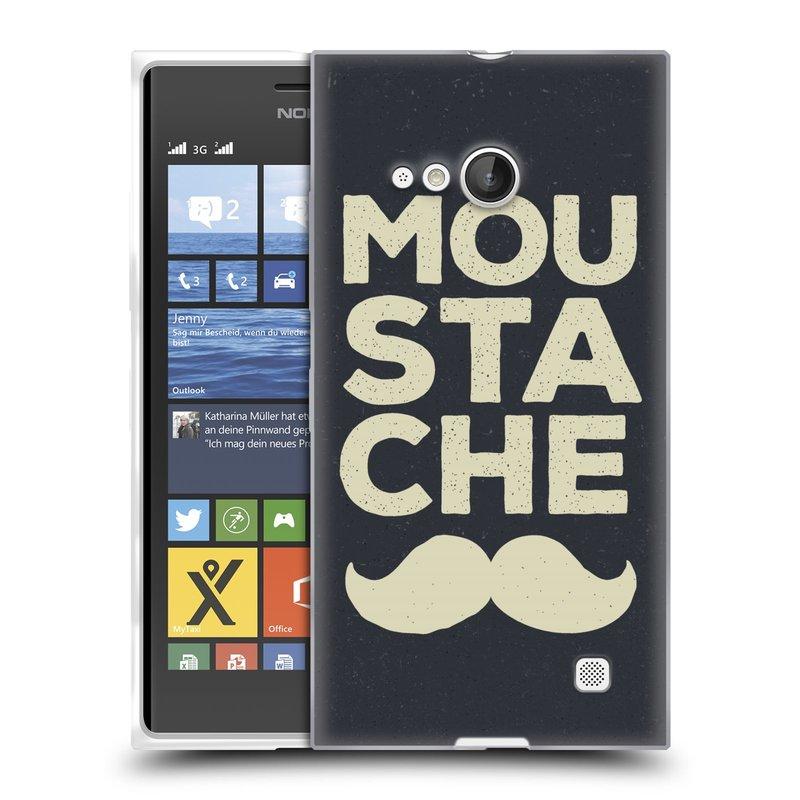 Silikonové pouzdro na mobil Nokia Lumia 730 Dual SIM HEAD CASE KNÍR MOU STA CHE (Silikonový kryt či obal na mobilní telefon Nokia Lumia 730 Dual SIM)