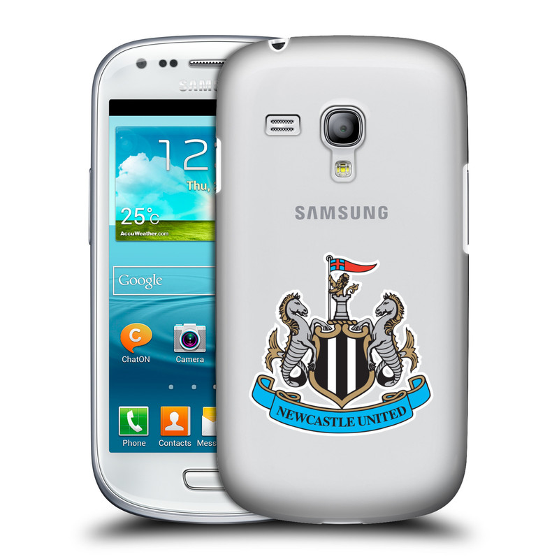Plastové pouzdro na mobil Samsung Galaxy S III Mini VE HEAD CASE Newcastle United FC - Čiré (Kryt či obal na mobilní telefon s licencovaným motivem Newcastle United pro Samsung Galaxy S3 Mini VE GT-i8200)