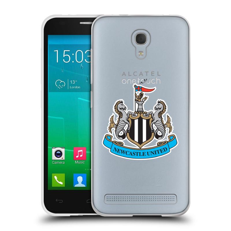 Silikonové pouzdro na mobil Alcatel One Touch Idol 2 Mini S 6036Y HEAD CASE Newcastle United FC - Čiré (Silikonový kryt či obal na mobilní telefon s licencovaným motivem Newcastle United pro Alcatel Idol 2 Mini S OT-6036Y)