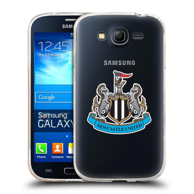 Silikonové pouzdro na mobil Samsung Galaxy Grand Neo Plus HEAD CASE Newcastle United FC - Čiré (Silikonový kryt či obal na mobilní telefon s licencovaným motivem Newcastle United pro Samsung Galaxy Grand Neo Plus Duos GT-I9060i)