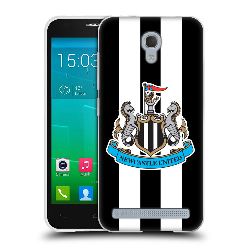 Silikonové pouzdro na mobil Alcatel One Touch Idol 2 Mini S 6036Y HEAD CASE Newcastle United FC - Pruhy (Silikonový kryt či obal na mobilní telefon s licencovaným motivem Newcastle United pro Alcatel Idol 2 Mini S OT-6036Y)