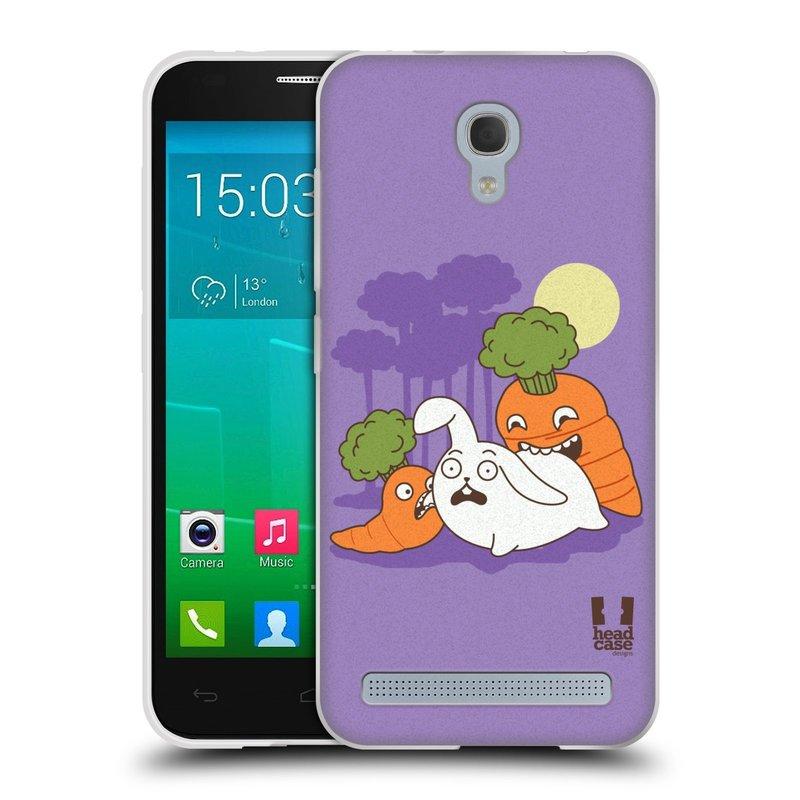 Silikonové pouzdro na mobil Alcatel One Touch Idol 2 Mini S 6036Y HEAD CASE DEN NARUBY MRKVIČKY (Silikonový kryt či obal na mobilní telefon Alcatel Idol 2 Mini S OT-6036Y)