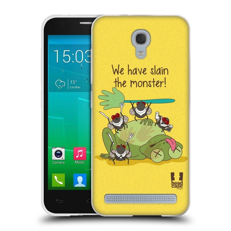 Silikonové pouzdro na mobil Alcatel One Touch Idol 2 Mini S 6036Y HEAD CASE DEN NARUBY ŽÁBA (Silikonový kryt či obal na mobilní telefon Alcatel Idol 2 Mini S OT-6036Y)