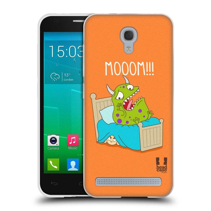 Silikonové pouzdro na mobil Alcatel One Touch Idol 2 Mini S 6036Y HEAD CASE DEN NARUBY STRAŠIDLO (Silikonový kryt či obal na mobilní telefon Alcatel Idol 2 Mini S OT-6036Y)