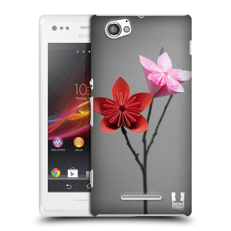 Plastové pouzdro na mobil Sony Xperia M C1905 HEAD CASE KUSUDAMA (Kryt či obal na mobilní telefon Sony Xperia M a M Dual)