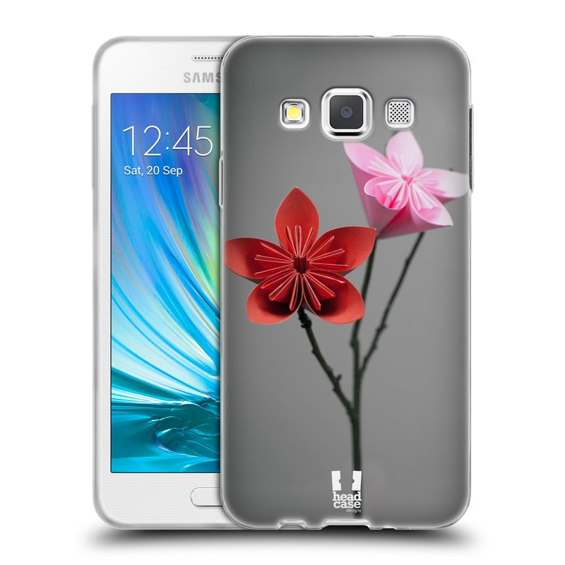 Silikonové pouzdro na mobil Samsung Galaxy A3 HEAD CASE KUSUDAMA (Silikonový kryt či obal na mobilní telefon Samsung Galaxy A3 SM-A300)