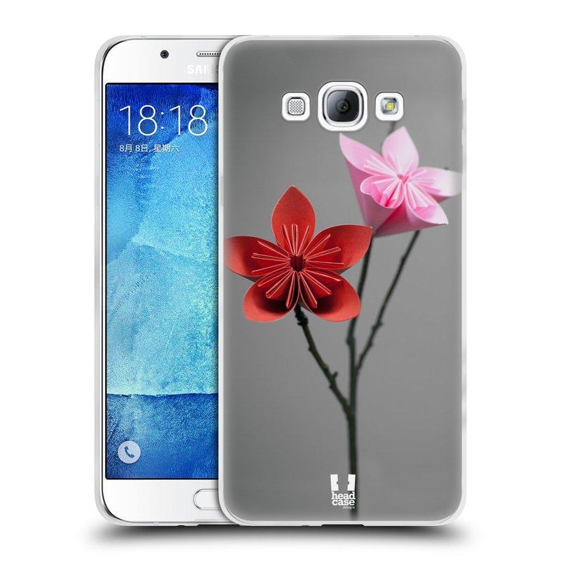 Silikonové pouzdro na mobil Samsung Galaxy A8 HEAD CASE KUSUDAMA (Silikonový kryt či obal na mobilní telefon Samsung Galaxy A8 SM-A800)