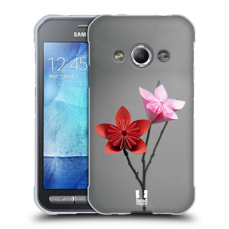 Silikonové pouzdro na mobil Samsung Galaxy Xcover 3 HEAD CASE KUSUDAMA (Silikonový kryt či obal na mobilní telefon Samsung Galaxy Xcover 3 SM-G388F)