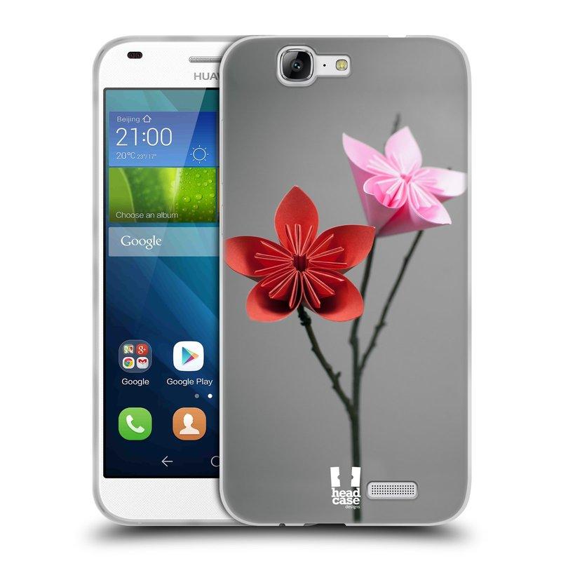 Silikonové pouzdro na mobil Huawei Ascend G7 HEAD CASE KUSUDAMA (Silikonový kryt či obal na mobilní telefon Huawei Ascend G7)