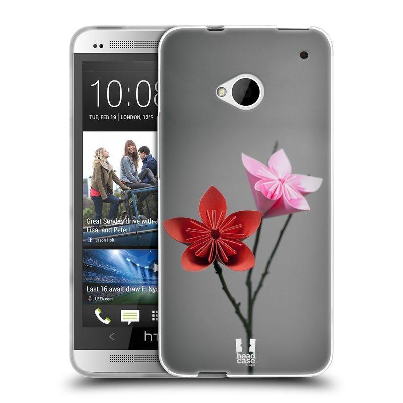 Silikonové pouzdro na mobil HTC ONE M7 HEAD CASE KUSUDAMA (Silikonový kryt či obal na mobilní telefon HTC ONE M7)