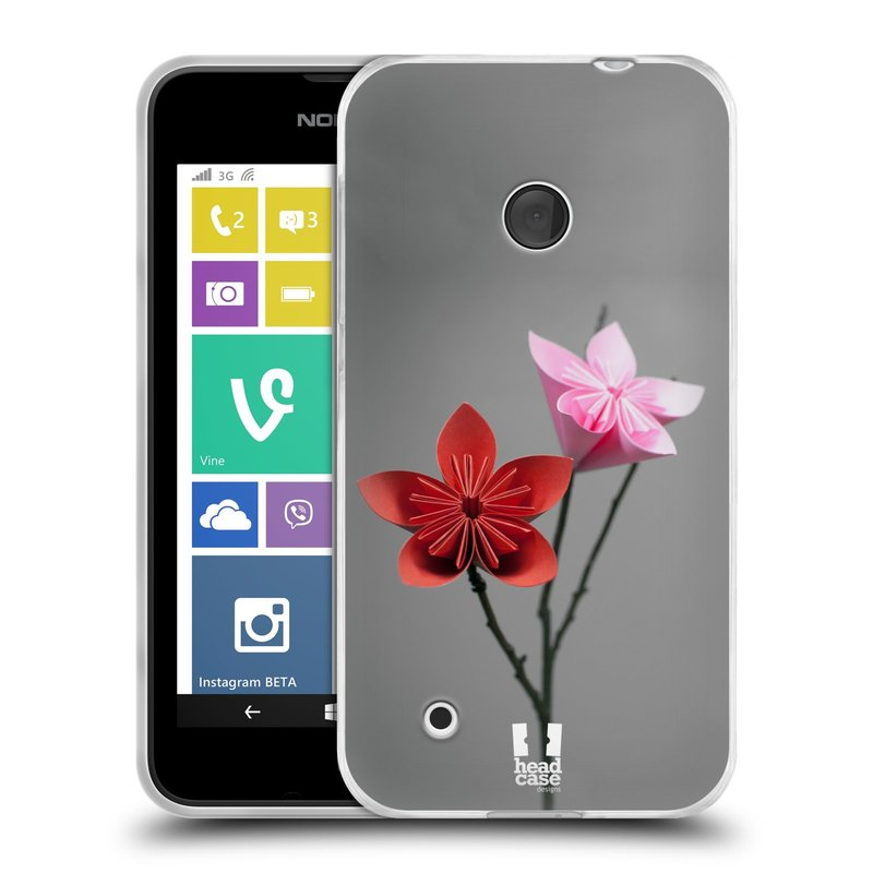 Silikonové pouzdro na mobil Nokia Lumia 530 HEAD CASE KUSUDAMA (Silikonový kryt či obal na mobilní telefon Nokia Lumia 530)