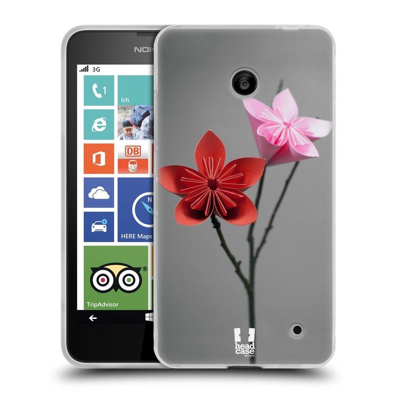 Silikonové pouzdro na mobil Nokia Lumia 630 HEAD CASE KUSUDAMA (Silikonový kryt či obal na mobilní telefon Nokia Lumia 630 a Nokia Lumia 630 Dual SIM)