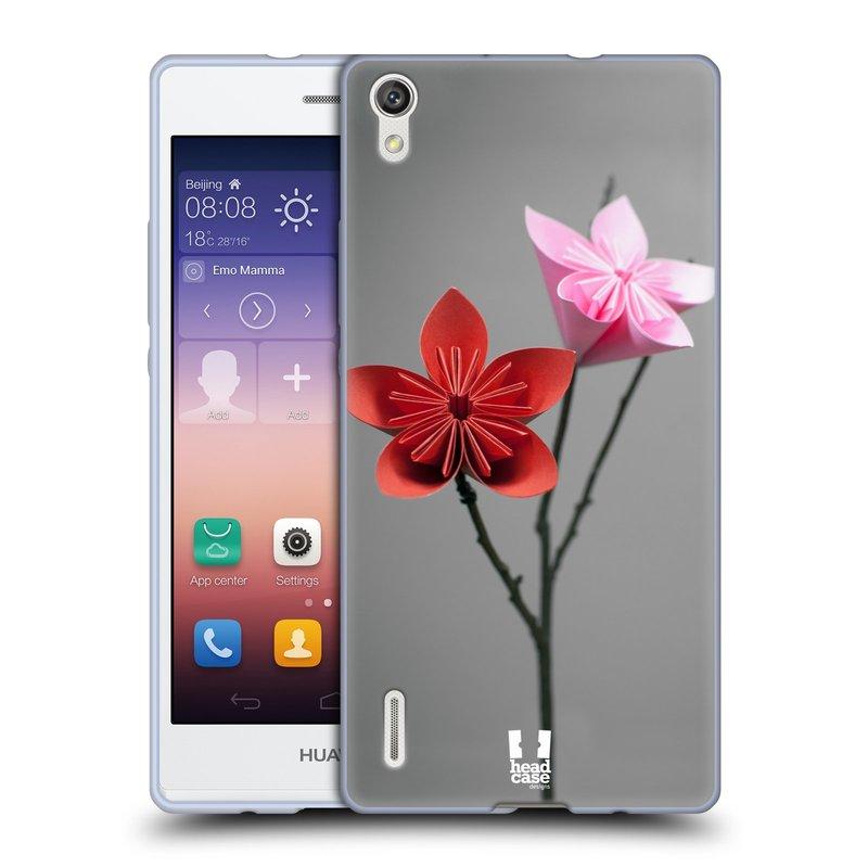 Silikonové pouzdro na mobil Huawei P7 HEAD CASE KUSUDAMA (Silikonový kryt či obal na mobilní telefon Huawei Ascend P7)