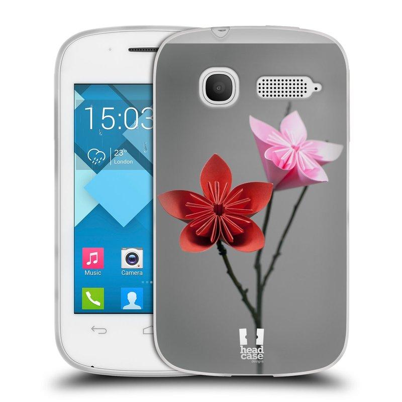 Silikonové pouzdro na mobil Alcatel One Touch Pop C1 HEAD CASE KUSUDAMA (Silikonový kryt či obal na mobilní telefon Alcatel OT-4015D POP C1)
