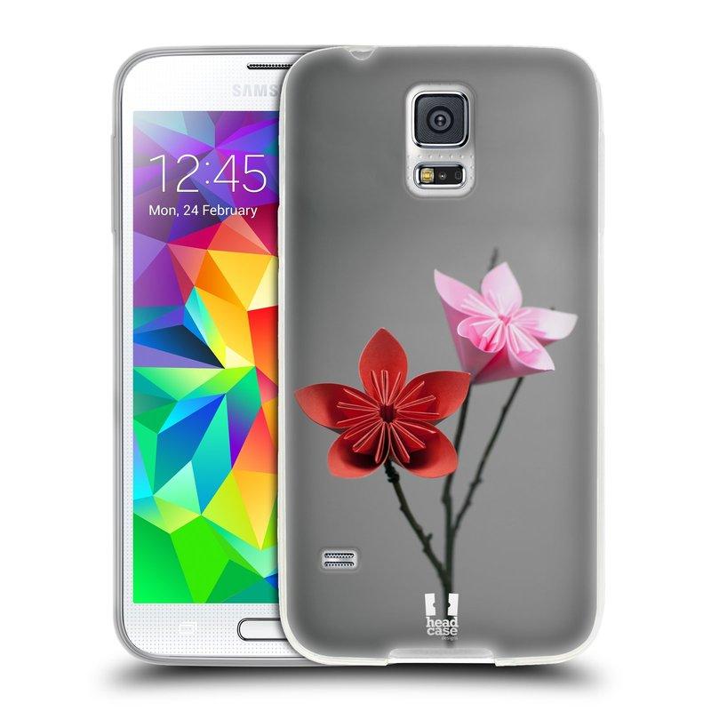 Silikonové pouzdro na mobil Samsung Galaxy S5 HEAD CASE KUSUDAMA (Silikonový kryt či obal na mobilní telefon Samsung Galaxy S5 SM-G900F)