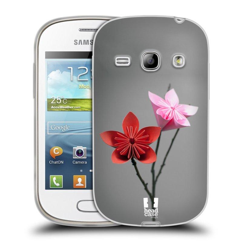 Silikonové pouzdro na mobil Samsung Galaxy Fame HEAD CASE KUSUDAMA (Silikonový kryt či obal na mobilní telefon Samsung Galaxy Fame GT-S6810)
