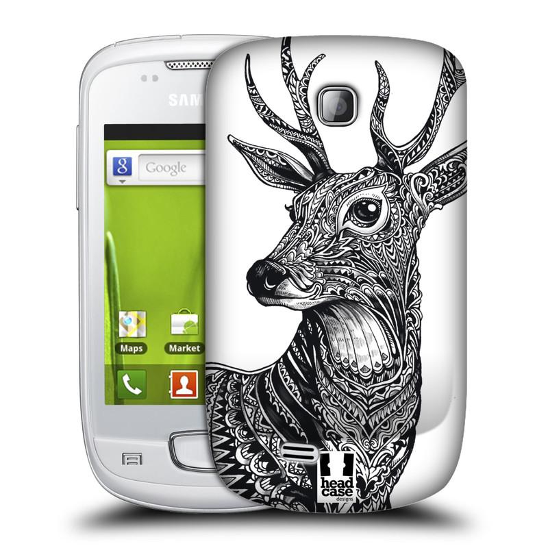 Plastové pouzdro na mobil Samsung Galaxy Mini HEAD CASE Zdobený Jelínek (Plastový kryt či obal na mobilní telefon Samsung Galaxy Mini GT-S5570 / GT-S5570i)
