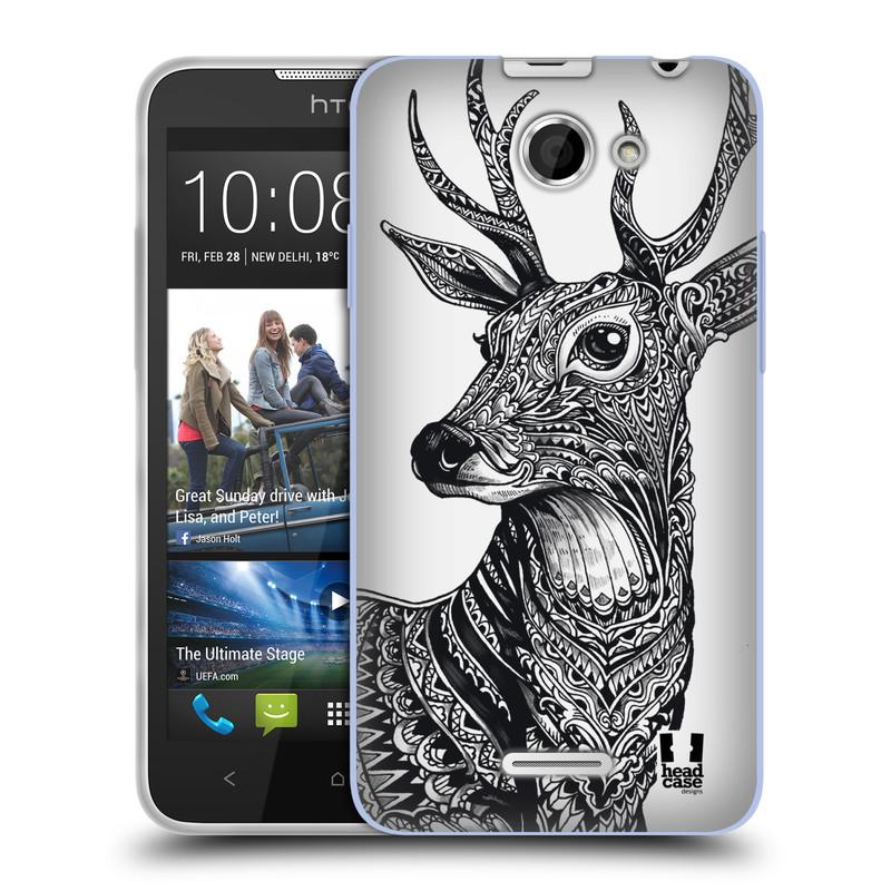 Silikonové pouzdro na mobil HTC Desire 516 HEAD CASE Zdobený Jelínek (Silikonový kryt či obal na mobilní telefon HTC Desire 516 Dual SIM)