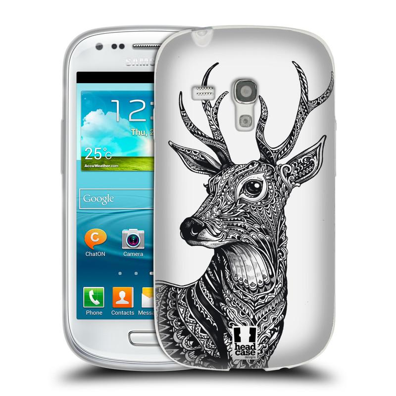 Silikonové pouzdro na mobil Samsung Galaxy S3 Mini VE HEAD CASE Zdobený Jelínek (Silikonový kryt či obal na mobilní telefon Samsung Galaxy S3 Mini VE GT-i8200)