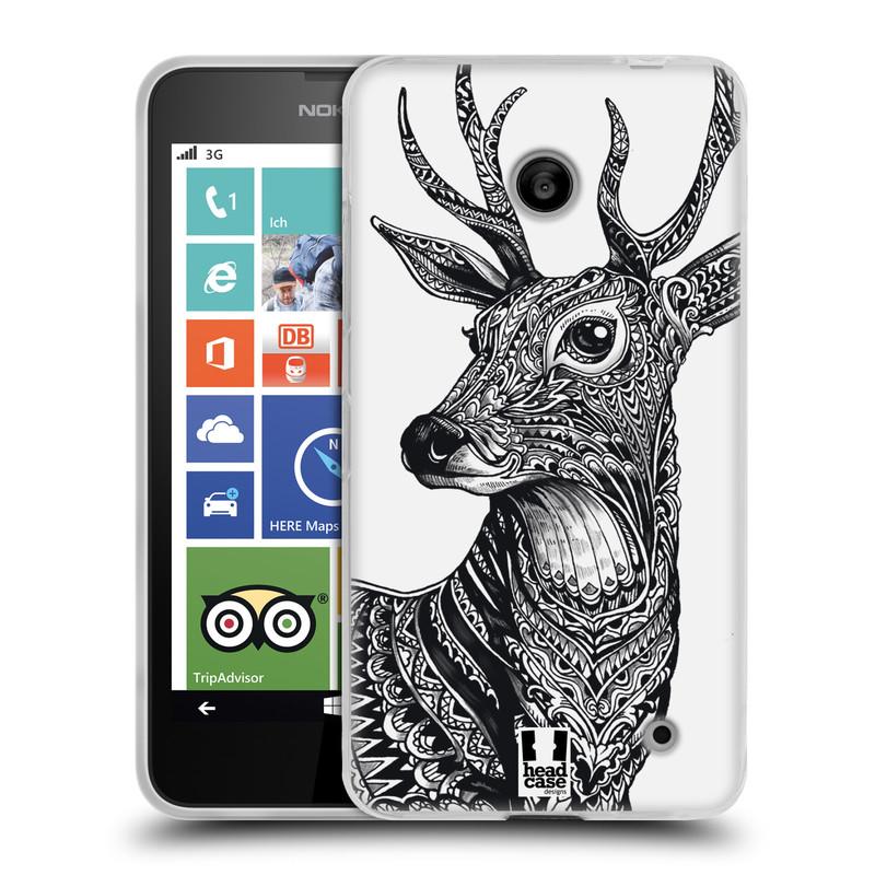 Silikonové pouzdro na mobil Nokia Lumia 635 HEAD CASE Zdobený Jelínek (Silikonový kryt či obal na mobilní telefon Nokia Lumia 635 Dual SIM)