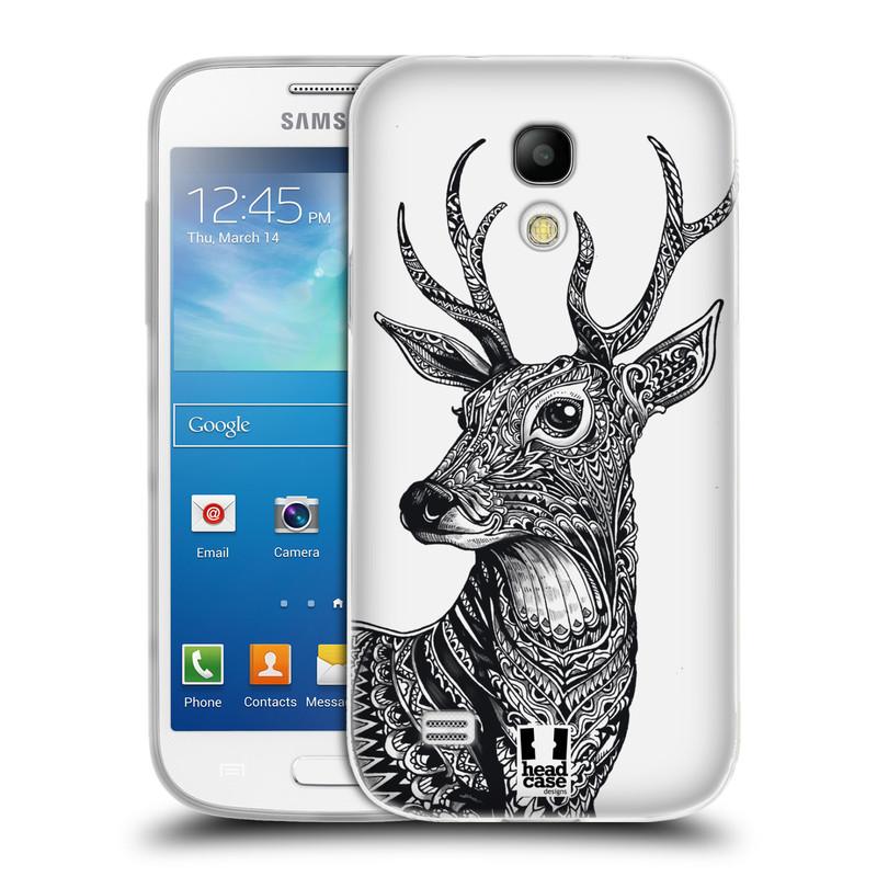 Silikonové pouzdro na mobil Samsung Galaxy S4 Mini HEAD CASE Zdobený Jelínek (Silikonový kryt či obal na mobilní telefon Samsung Galaxy S4 Mini GT-i9195 / i9190)