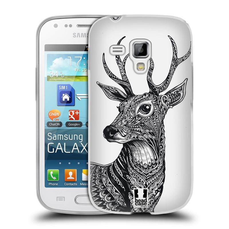 Silikonové pouzdro na mobil Samsung Galaxy S Duos HEAD CASE Zdobený Jelínek (Silikonový kryt či obal na mobilní telefon Samsung Galaxy S Duos GT-S7562)