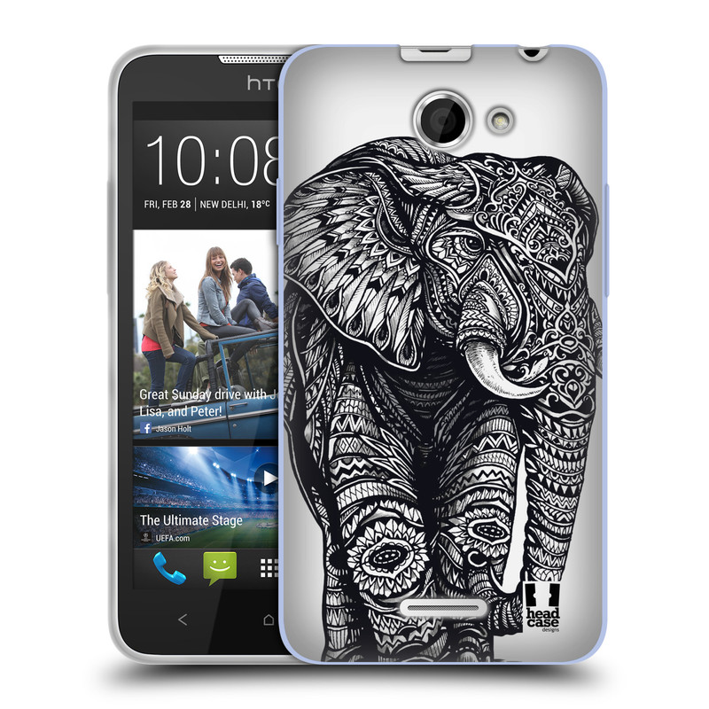 Silikonové pouzdro na mobil HTC Desire 516 HEAD CASE Zdobený Slon (Silikonový kryt či obal na mobilní telefon HTC Desire 516 Dual SIM)